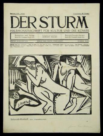 Woodcut Schmidt-Rottluff - Akte (Nudes)