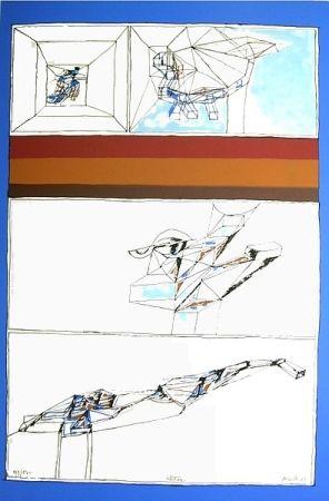 Lithograph Perilli - Aktion