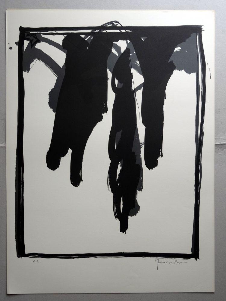 Lithograph Hernandez Pijuan - A.L. Barcelona-III