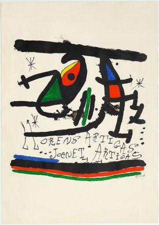 Lithograph Miró - A.L Exposición 1971