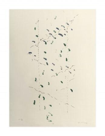 Lithograph Hernandez Pijuan - A.L. Osaka (avant-la-lettre Osaka)
