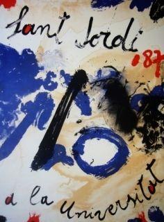 Lithograph Guinovart - AL Sant Jordi a la Universitat