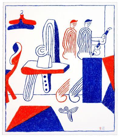 Lithograph Behncke - Albert Mertz