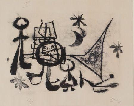 Lithograph Miró - Album 13, Plate VI