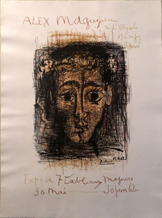 Lithograph Picasso -  Alex Maguy Expose 7 Tableaux Majeurs -