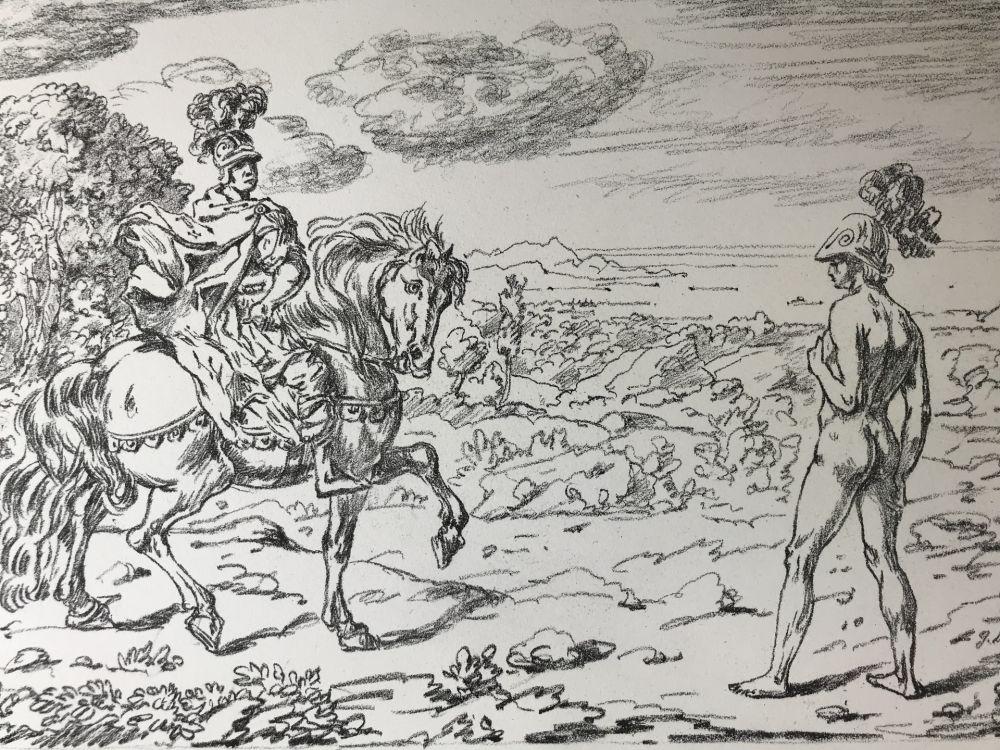 Lithograph De Chirico - Alexandros
