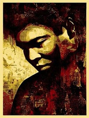 Screenprint Fairey - Ali Canvas