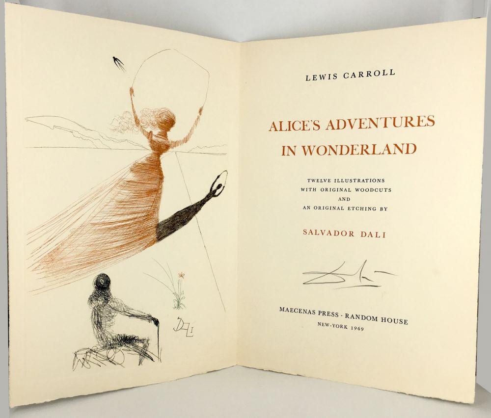Illustrated Book Dali - ALICE IN WONDERLAND. 1 eau-forte et 12 bois et héliogravures en couleurs (1969).