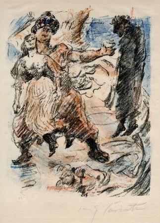 Lithograph Corinth - Aline fällt in die Hand der Korsaren
