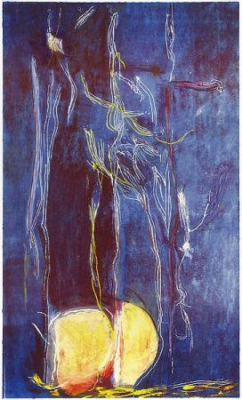 Woodcut Frankenthaler - All About Blue