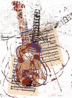 Screenprint Arman - Allegro pour guitare