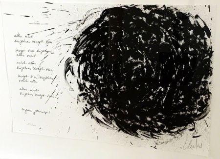 Lithograph Uecker - Alles ruht, einzelnes bewegt sich
