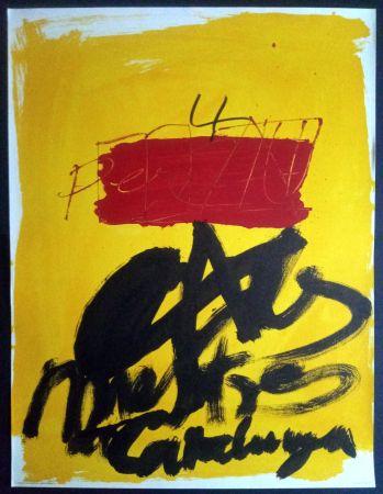 Poster Tàpies - Als mestres de Catalunya