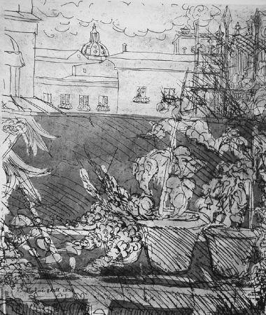 Engraving Bartolini - Altana romana