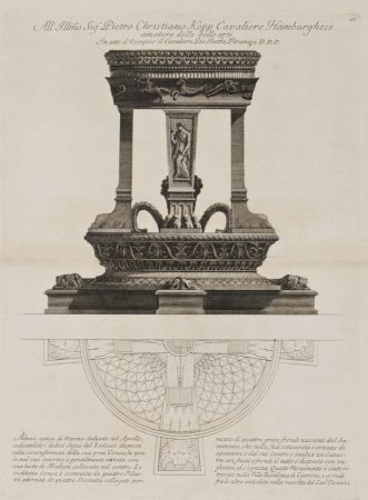 Etching Piranesi - Altar de Apolo