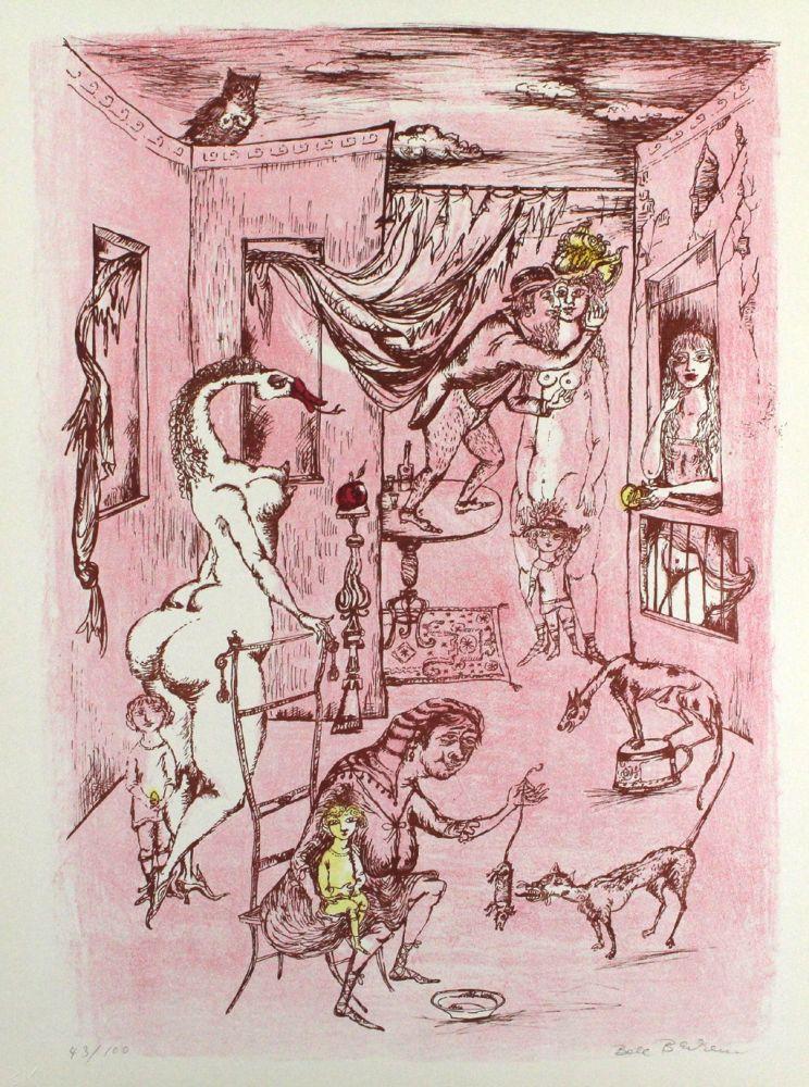 Lithograph Bachem - Alternde Paris zum Muttertag