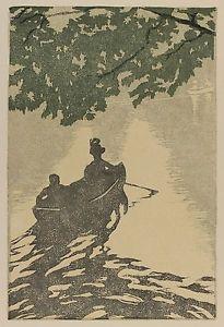 Woodcut Leonard - Am neuen See