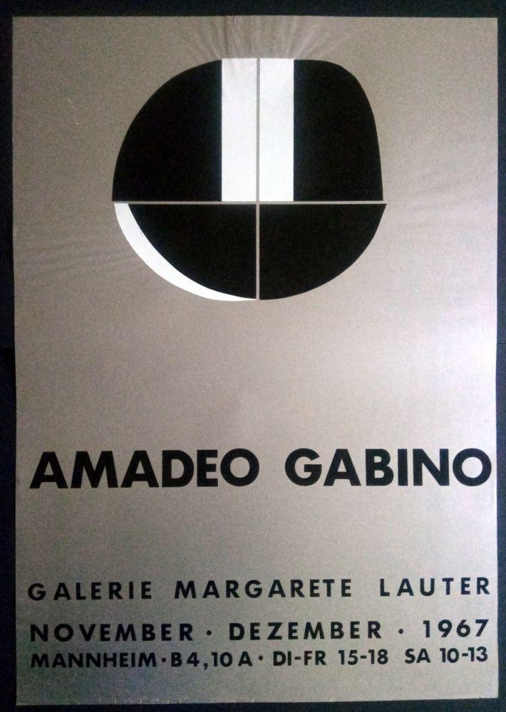 Poster Gabino - Amadeo Gabino - Galerie Margarete Lauter 1967