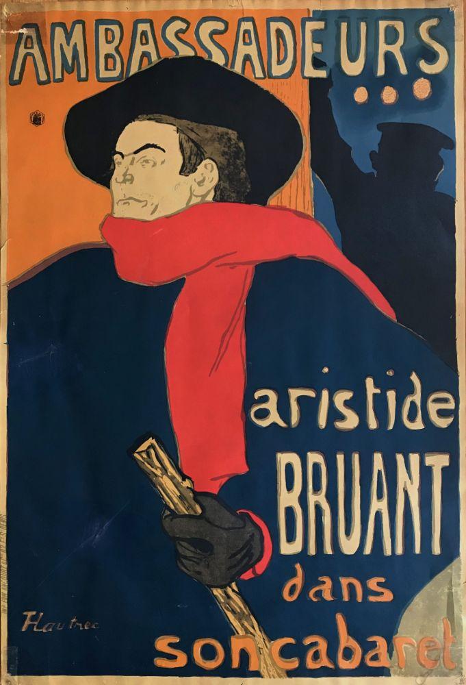 Lithograph Toulouse-Lautrec - Ambassadeurs - Aristide Bruant dans son cabaret (création 1892)