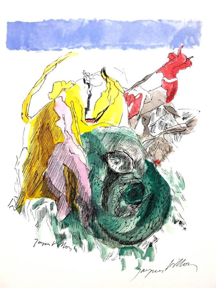 Lithograph Villon - Ame Vive