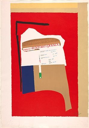 Lithograph Motherwell - America - La France Variations I