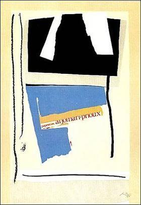 Lithograph Motherwell - America La France Variation V