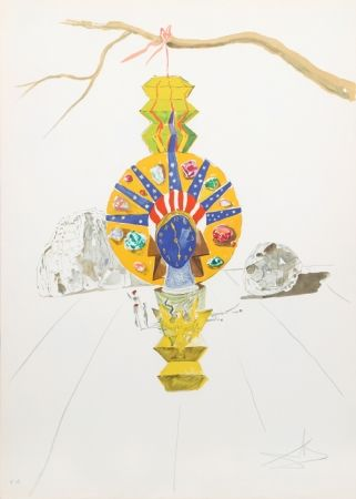 Lithograph Dali - American Clock (Timeless Statue) from Time