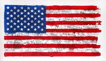 Multiple Mr Brainwash - American flag