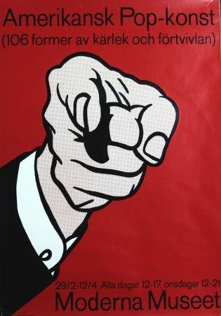 Screenprint Lichtenstein -    Amerikansk Pop-Konst