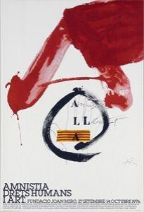 Poster Tàpies - Amnistia, Drets Humans i Art