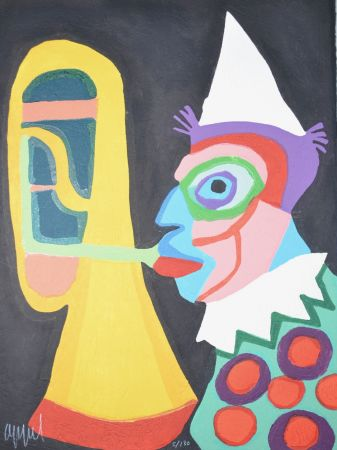 Aquatint Appel - Amsterdam clown