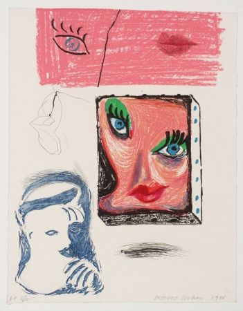 Etching And Aquatint Hockney - An image of Celia