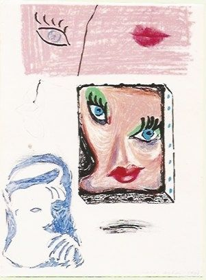 Lithograph Hockney - An image of Celia Study
