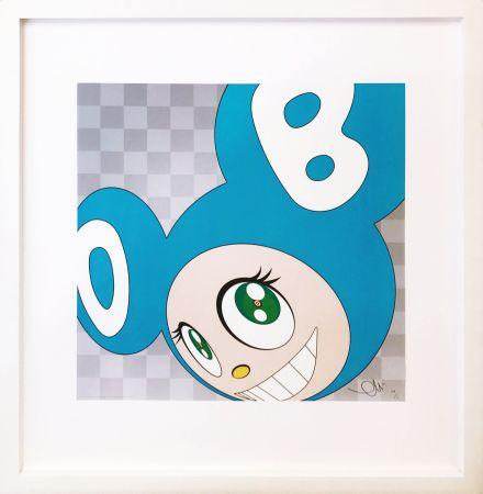 Lithograph Murakami - AND THEN . . . (AQUA BLUE)