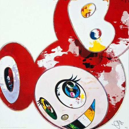 Lithograph Murakami - And Then x6 (Red)