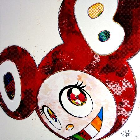Lithograph Murakami - And Then x6 (Vermilion: The superflat method)