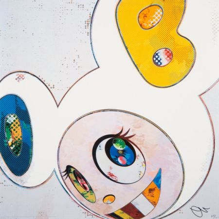 Lithograph Murakami - And Then x6 (White)