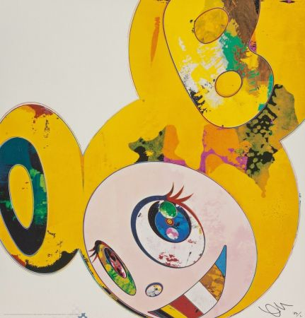 Lithograph Murakami - And Then... (Yellow)