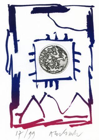 Etching Alechinsky - André Breton/Pierre Alechinsky