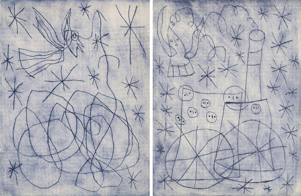 Illustrated Book Miró - André Frénaud : NOËL AU CHEMIN DE FER. [ALÈS, PAB, 1959].