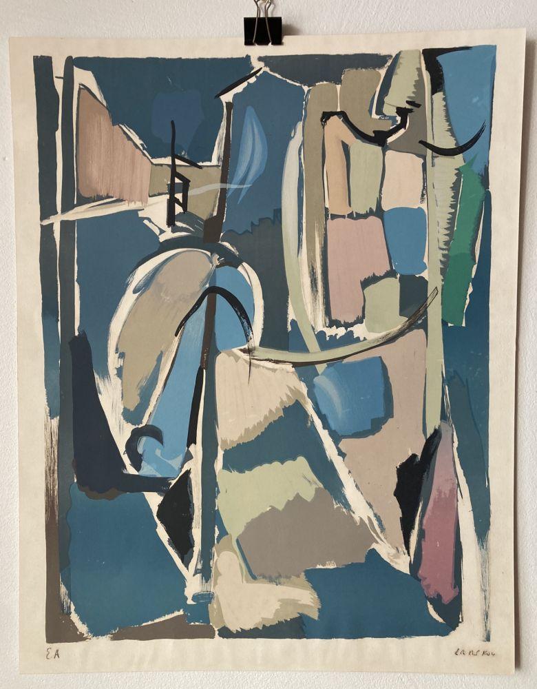 Lithograph Lanskoy - André Lanskoy (1902 - 1976). Moyse.