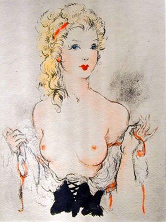Illustrated Book Icart - Andréa de Nerciat : FÉLICIA OU MES FREDAINES. 20 eaux-fortes par Louis Icart (1947).