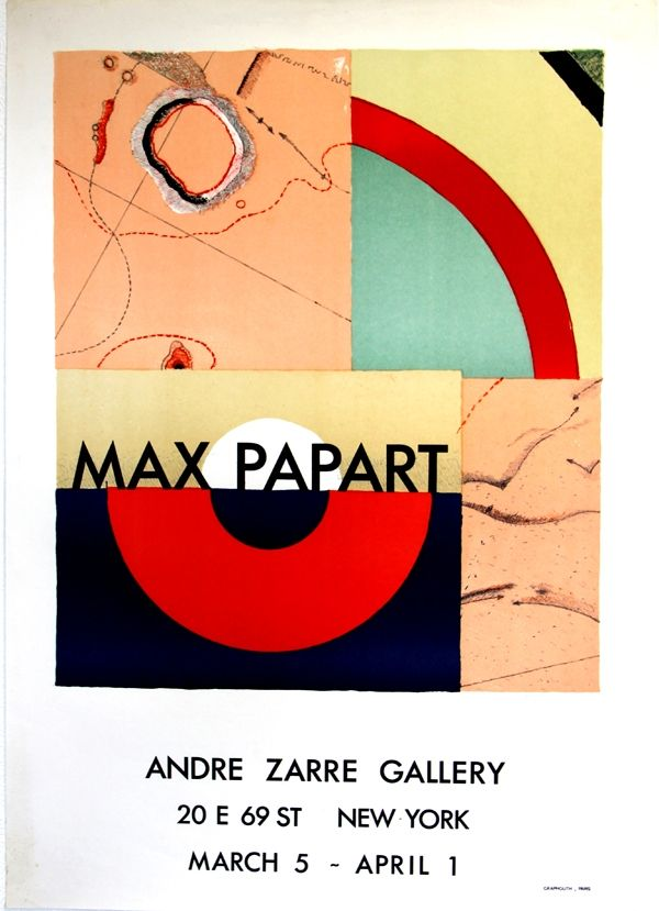 Lithograph Papart - Andre Zarrze  Gallery New York