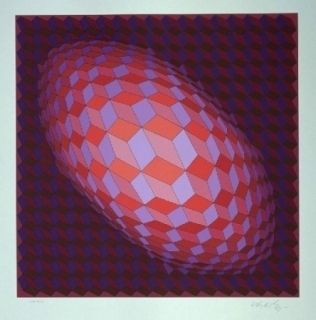 Lithograph Vasarely - Andromeda