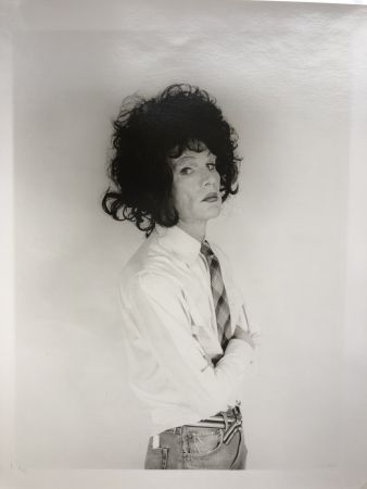 Photography Makos - Andy Warhol, dark wig (Altered Images)