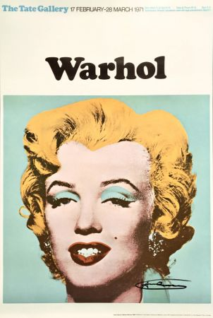 Lithograph Warhol - Andy Warhol 'Marilyn (Tate Gallery)' 1971 Hand Signed Original Pop Art Poster