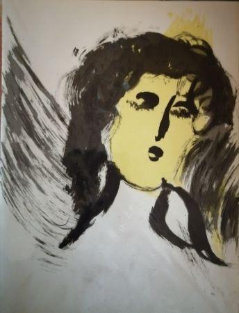 Lithograph Chagall - Ange