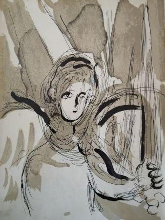 Lithograph Chagall - Ange à l'épée