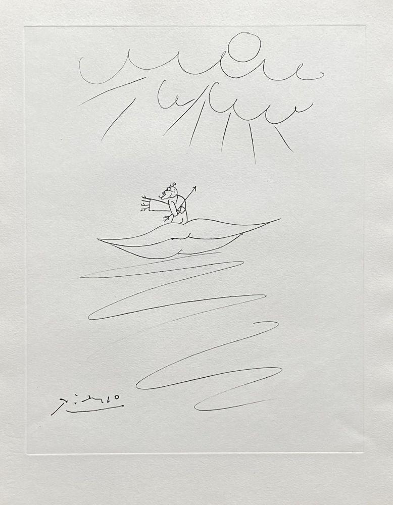 Etching Picasso - Ange de l'amour