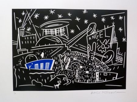 Lithograph Kuroda - Angel City IV